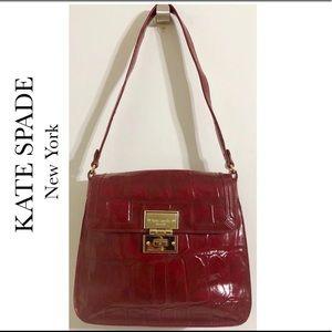 Kate Spade NY Knightbridge Croc Emboss Red Bag
